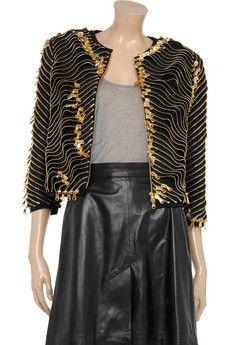 MOSCHINO Zip-embellished canvas jacket