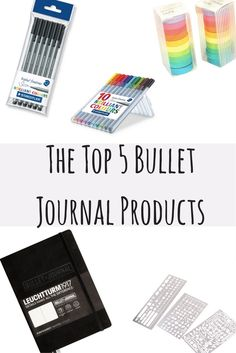 The Too 5 Bullet Journal Products and Supplies