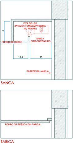(reforma) forro de gesso com tabica e sanca - São Paulo (São Paulo) | Habitissimo Cove Lighting, Lighting Design, Drywall Finishing, E Design, Interior Design, Ceiling Detail, Using Acrylic Paint, Gypsum, Technical Drawing