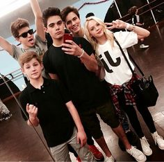 Some pictures from MattyB's rehearsals with The Haschak Sisters, Jordyn Jones (fave) and Forever In Your Mind!