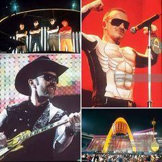 28.04.1997 Popmart Tour: Jack Murphy Stadium - San Diego, California, USA. #U2 #Bono #TheEdge #AdamClayton #LarryMullenJr #PopMartTour