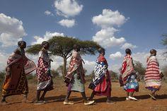 We love this pic of Maasai women in Turkana district, #Kenya.