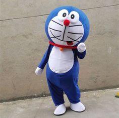 Doraemon Cartoon Mascot Costume Dolls Halloween Costume Party Adult Size