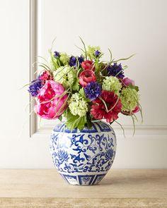 Peony & Zinnia Faux Floral Arrangement  This gift is sure to create smiles that won't fade!