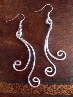 handmade earrings , wire