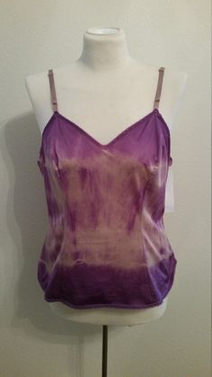 Dye4Me Collection HAnd Tie Dyed Tank, Purples, Adjustable Straps, Stretch, Size 38/40 Bust  #58752 by Dye4MeCollection on Etsy