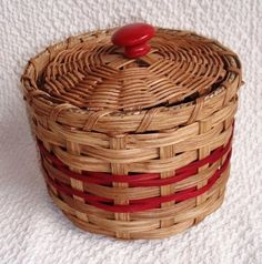 Handwoven Basket with Lid in Red from Baskets By  Rose |Pinned from PinTo for iPad|