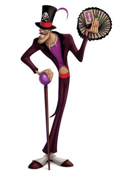 Facilier is the main villain of Disney's The Princess and the Frog. He is sometimes called the Shadowman. He wants power and control and will do anything to get it. Arte Disney, Disney Fun, Disney Pixar, Disney Cruise, Dr Facilier, Frog Costume, Disney Villains, Disney Characters, Princesa Tiana