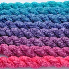 Magenta to Aqua Color Bridge Yarn Set