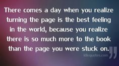 Turning the page...