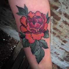 #Peony by @bettyrosetattoos. *In Japan, tree peonies not only represent feminine beauty, but also wealth and nobility of spirit. #LadyTattooers #TheMoreYouKnow #PeonyFlower #PeonyTattoo