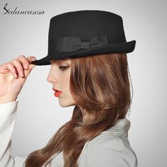 Vintage England 100% Wool from Australian Black Grey Blue Jazz Fedora Hats Wholesale Unisex Porkpie Hats Like if you are Excited! #shop #beauty #Woman's fashion #Products #Hat