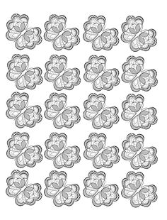 Free coloring page coloring-adult-butterfly. Adult coloring page composed of a repeated pattern of a pretty butterfly in black and white with very small wings, rich of details and of areas to color.
