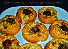 The Weekend Gourmet: Creamy Jalapeno-Cheese Sausage Crescent Cups. Finger Food Appetizers, Appetizer Dips, Finger Foods, Appetizer Recipes, Smoked Sausage Recipes, Jalapeno Cheese, Game Day Snacks, Cheese Sausage, Bon Appetit
