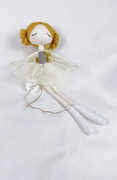Tutu, Handmade, Heirloom Fabric doll Fairy Dolls, Handmade Dolls, Cool Baby Stuff, Cute Designs, Beautiful Dolls, Making Out, Tutu, How To Draw Hands, Christmas Ornaments