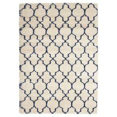 Nourison Amore Ivory/Blue Square Indoor Area Rug (Common: 7 x Actual: W x L) at Lowe's. Turn on the charm with this collection of enthralling shag rugs in bold colors. Featuring a beautiful pile that simply begs to be touched and quality Barker And Stonehouse, Shaggy Rug, Trellis Pattern, Rectangular Rugs, Rectangle Area, Blue Square, Large Rugs, Decoration, Blue Area Rugs