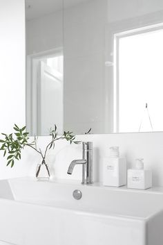 A warm grey home — Scandimerican Life Decoration Inspiration, Bathroom Inspiration, Interior Inspiration, Inspiration Design, Bathroom Toilets, Laundry In Bathroom, Minimal Bathroom, Modern Bathroom, White Bathroom