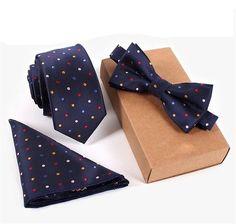 Necktie & Pocket Square Towel & Bow Tie Set