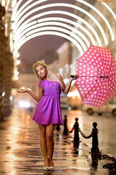 A fun idea for a portrait in/after the rain - Yuri Brut
