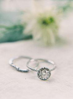 Fine Jewelry Round Diamond Halo Vintage Engagement Ring | Heather Payne Photography https://www.theknot.com/marketplace/heather-payne-photography-hickory-nc-602561 | www.mysweetengagement.com