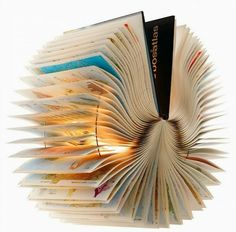 Alte Bücher als Lampenschirme originell Mehr