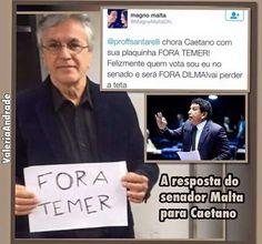 Noticias ao Minuto - Caetano Veloso pede 'Fora Temer' e leva bronca de senador