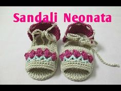 Sandali Neonata Uncinetto Tutorial #4# - YouTube
