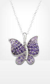 purple butterfly necklace