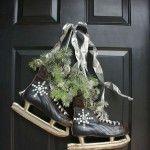 Kerstdecoratie met schaatsen - Woontrendz