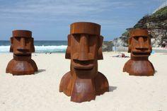 Heads sculpture, Bondi beach, Sydney, Australia