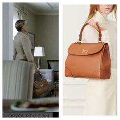 House of Cards: Season 4 Episode 3 Claire's Tan Bag with Gold Padlock