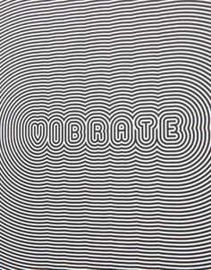 Custom screen printed poster from Human Being Journal with black 'Vibrate' optical illusion print on White poster paper. Graphisches Design, Graphic Design, Design Ideas, Screen Print Poster, Poster Prints, Custom Screen Printing, Illusion Art, Typography Poster, Tribal Art