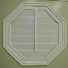 Octagonal Shaped shutters are a work of art for your custom window coverings
