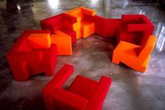 Divertido diseño de muebles inspirado en Tetris