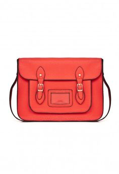 Missguided - Julee Large Leather Satchel Bag In Red