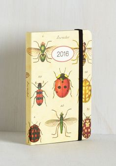 Can I Bug You? 2016 Planner. When this paper planner indicates an open week ahead, ping your pals to see when you can pen them in! #multi #modcloth