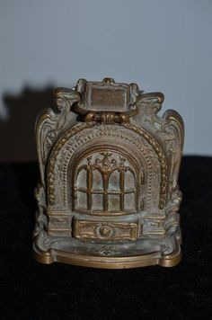 Antique Doll Miniature Cast Iron Fireplace Fire Place Dollhouse Ornate