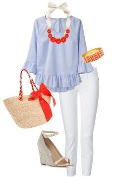 love this color combo and that top!!