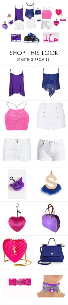 OMG GIRLZ by ursulachenui on Polyvore featuring Boohoo, WearAll, Barbour International, Pierre Balmain, Current/Elliott, Yves Saint Laurent, Louis Vuitton, Dolce&Gabbana, Helen Moore and Fendi