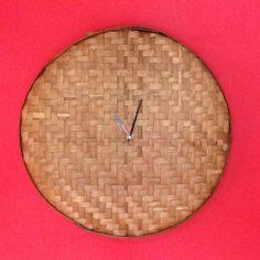 Rattan clock