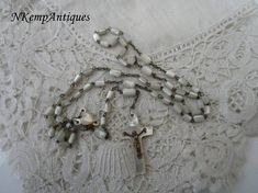 Antique rosary Mother of pearl 1910