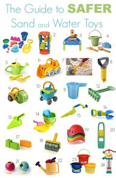 The Guide to Safer Sand and Water Toys - Bath Toys - Ideas of Bath Toys - The Guide to Safer Sand and Water Toys Outdoor Toys For Toddlers, Bath Toys For Toddlers, Toys For Boys, Kids Toys, Outside Toys For Toddlers, Toddler Beach, Toddler Fun, Toddler Toys, Sand Toys