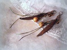 Bohemien orecchini Gypsy lunghi orecchini con di LigitasWorkshop