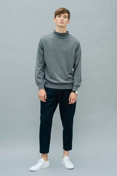 Uli Cashmere Pullover Smog Front View Luxury Lifestyle, Cashmere, Women Wear, Product Launch, Normcore, Pullover, Cotton, Collection, Fashion