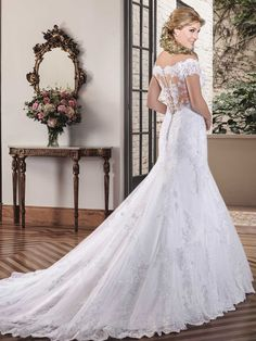 Cheap gown hollywood, Buy Quality gowns online directly from China dress sticker Suppliers: wejanedress Lace Appliques Mermaid Wedding Dresses Bridal Gowns Bead Vestido de Novia Sexy Back Robe de Mariage Trouwjurk Princess Bridal, Princess Wedding Dresses, Bridal Dresses, Wedding Gowns, Allure Bridal, Wedding Dress With Veil, Cheap Wedding Dress, Bridal Looks, Bridal Style