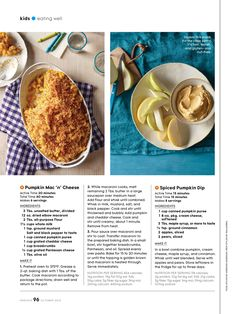 Spiced Pumpkin Dip from October 2015 issue of Parents Magazine