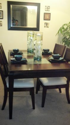 Dining Table Centerpiece Ideas  Burkett Blessings Decorating Mesmerizing Dining Room Center Pieces Design Decoration