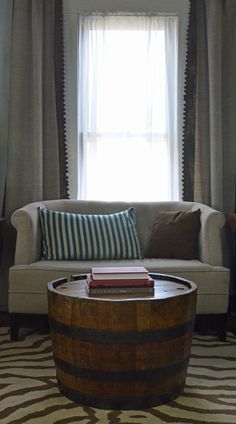 reversible reclaimed wine barrel. Reversible Reclaimed Half Wine Barrel Table With Tempered Glass Top | Decor Pinterest Table, And Barrels