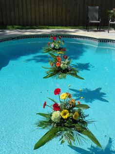Pool Floats, Flowers for the Pool.