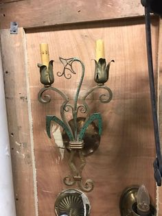 """FEED Me, Seymor!!!"" Antique Art Nouveau Wall Sconce Hand Wrought Iron Floral Design 5 Available"